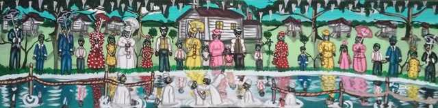 Painting of baptism by Alvin Batiste
