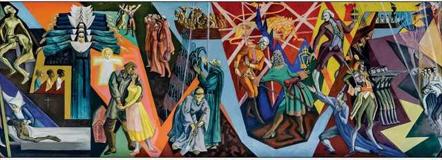 art rocks Frescoes of Conrad Albrizio