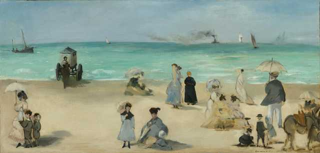 on the beach edouard manet mississippi museum of art french impressionist april 2020