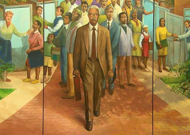 Robt Dafford LSU Mural