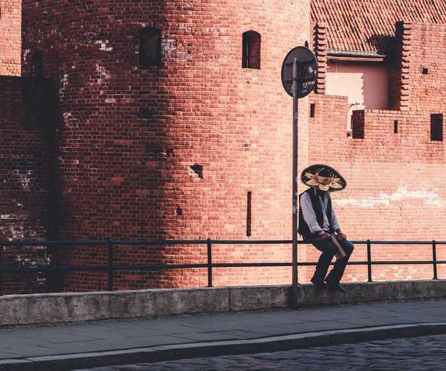cinco de mayo alone sombrero mexico photo stock photo