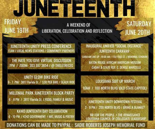 Juneteenth Events Baton Rouge 2020