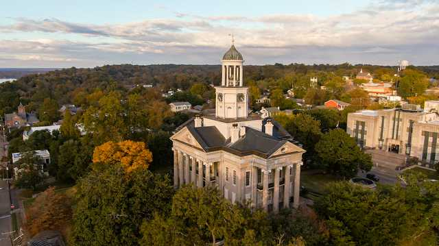 Vicksburg Old Courthouse (Aerial view)