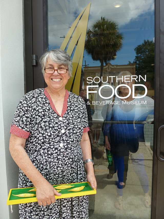 SoFAB founder Liz Williams beams on the day the food  museum reopened in its new home. Photo by Renee Kientz.jpg