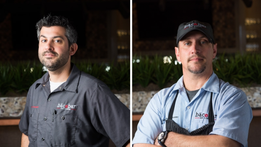 Chef Carl Schaubhut And Chef Jean Pierre Guidry Of Bacobar
