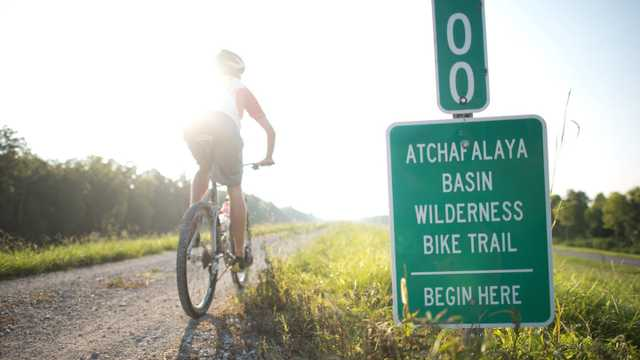 Biking the Atchafalaya Basin Wilderness Bike Trail