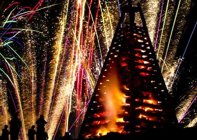 Bonfires on the Levee