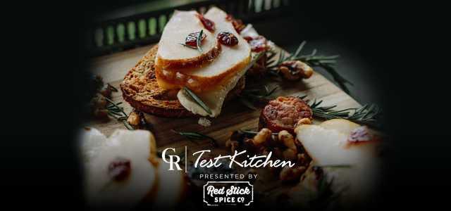 Test Kitchen Cranberry Pear Crostini