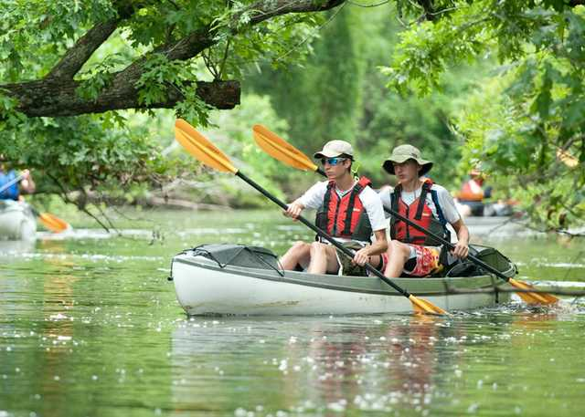 SCOUTS BOATING IN ATCHAFALAYA