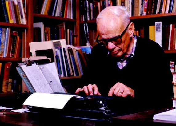 Walker Percy in study