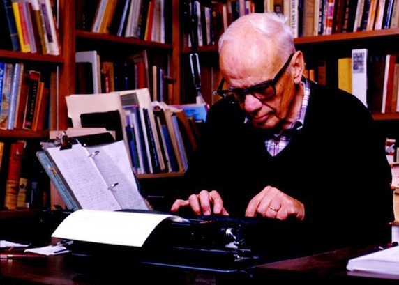 Walker Percy in study