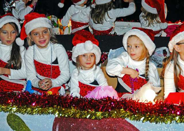 Children on float at Blue Magic on Main Christmas Parade.jpg